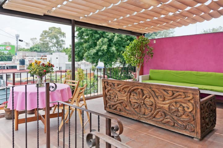 Cozy Apartment in terrace in Coyoacan