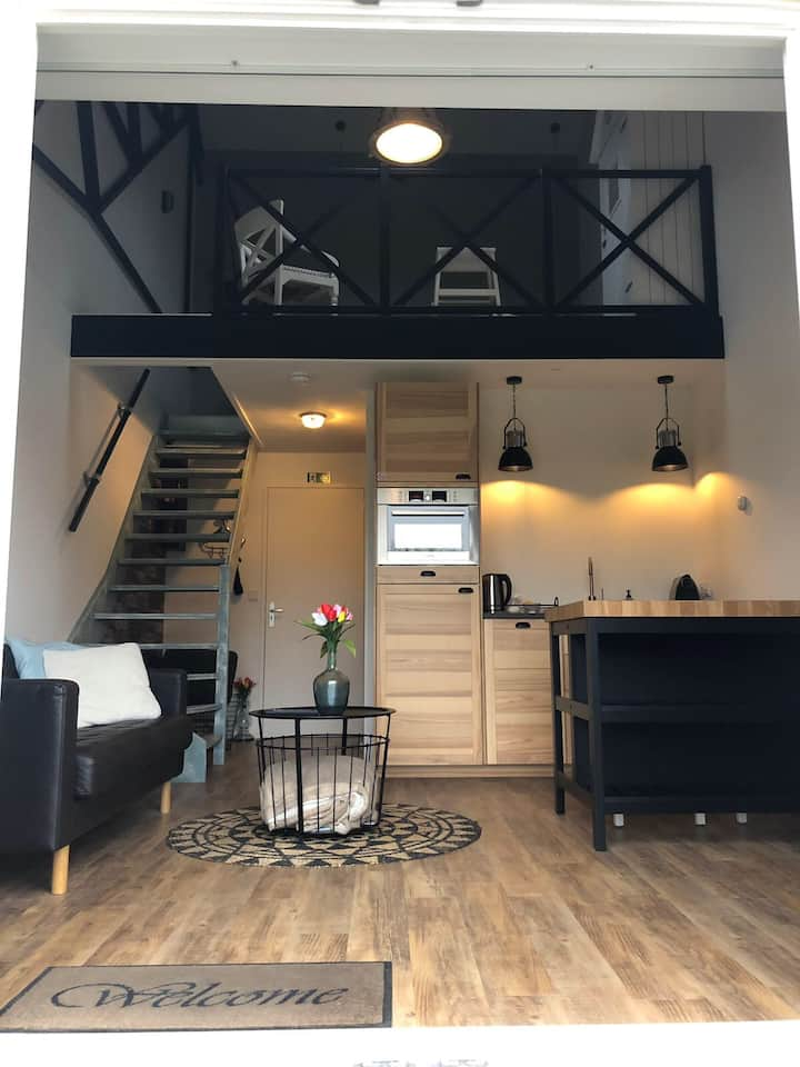 Appartement 1, landelijk. Gratis fietsen
