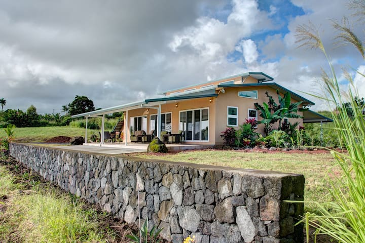 Sea Breeze Cottage....on 8 acres with ocean views! - Pepeekeo - Casa