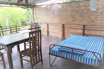 day bed and table