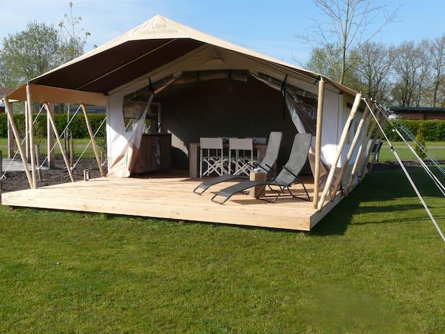 Twijzel, sfeervolle safaritent, pracht locatie - Twijzel - Tenda de campanya