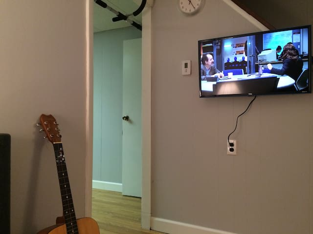 Living room and roku TV