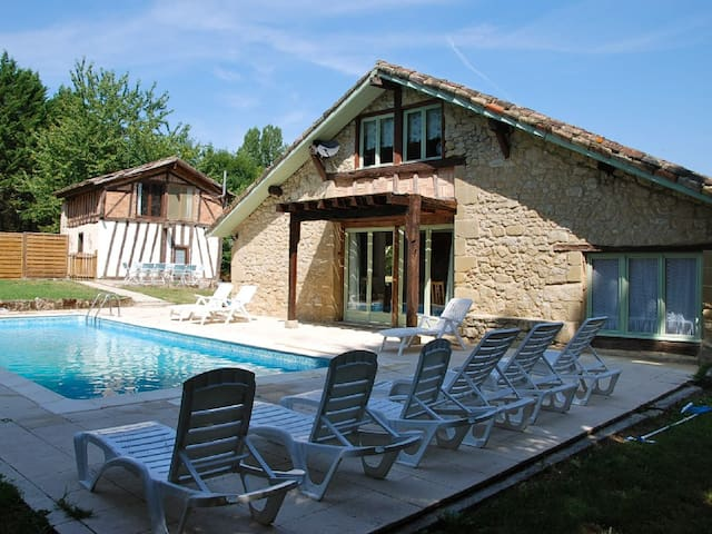 Newly restored stone barn with pool - Sérignac-Péboudou - Huis