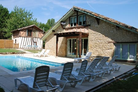 Newly restored stone barn with pool - Sérignac-Péboudou