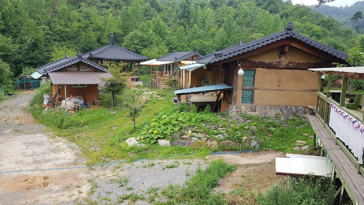 Korea's Traditional Soil  Wooden House with Nature
