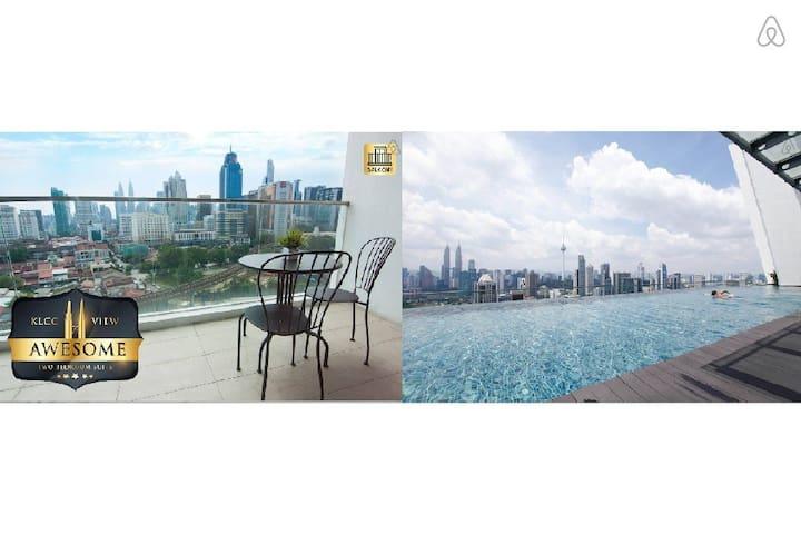 *KLCC VIEW* With Balcony Cosy 3BR Suite @ Regalia