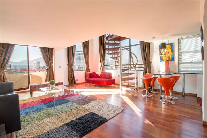 Loft with Spectacular views over El GOLF area