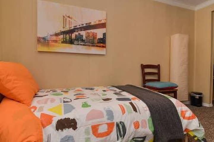 The Artsy Orange Room Shared and Coed - Bed #2