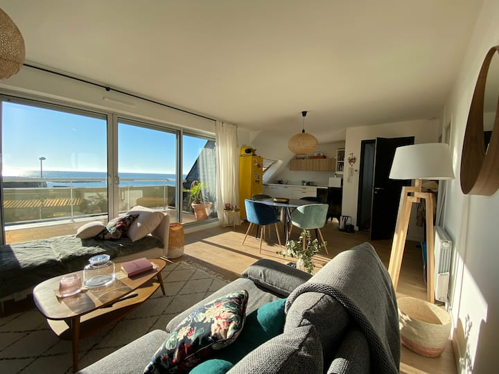 Appartement cocooning en face de la plage
