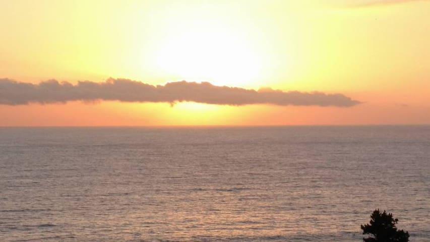 Cabaña hermosa vista litoral de los poetas