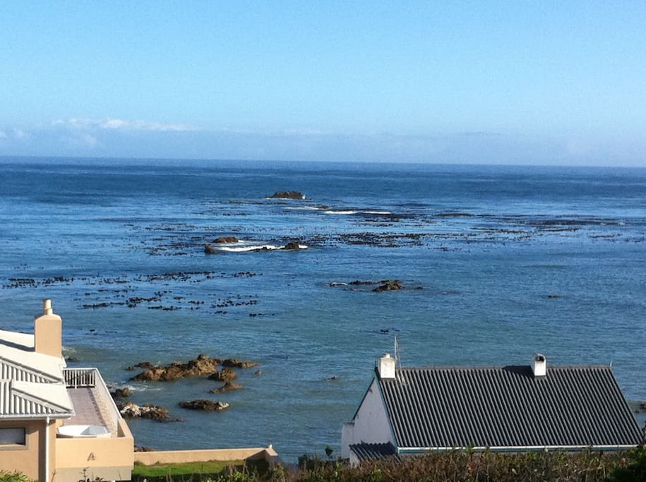 50 metres from water. Only 1 line of lower lying houses in front(only 3 houses on the rocks).