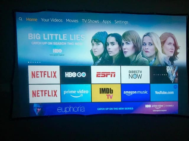 120 INCHES!!! 120 Inch screen for HD viewing pleasure in your own room. NETFLIX, Amazon vidoes, HBO available