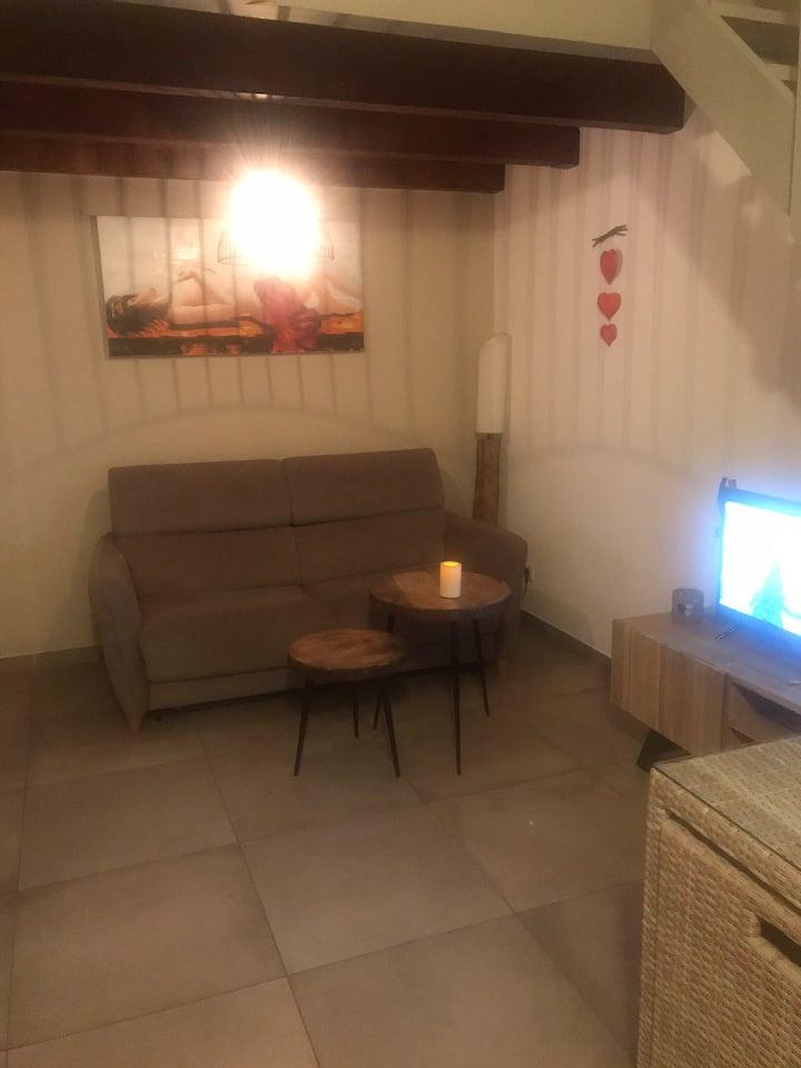 Location saisonnière d'un studio avec mezzanine