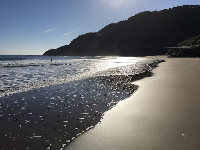Basque Country beach flat