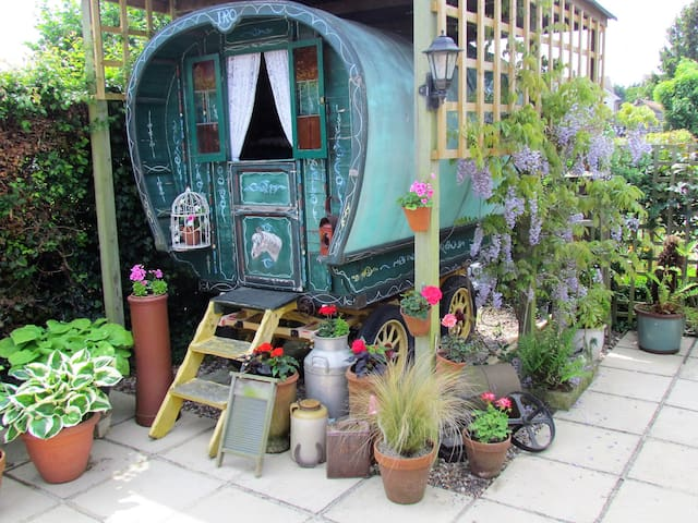 Lovely 1930's bow top gypsy caravan.