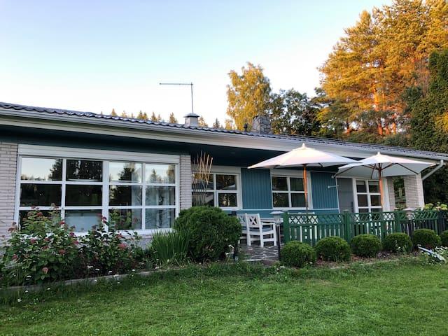 Good place to visit Finland,sauna,big garden