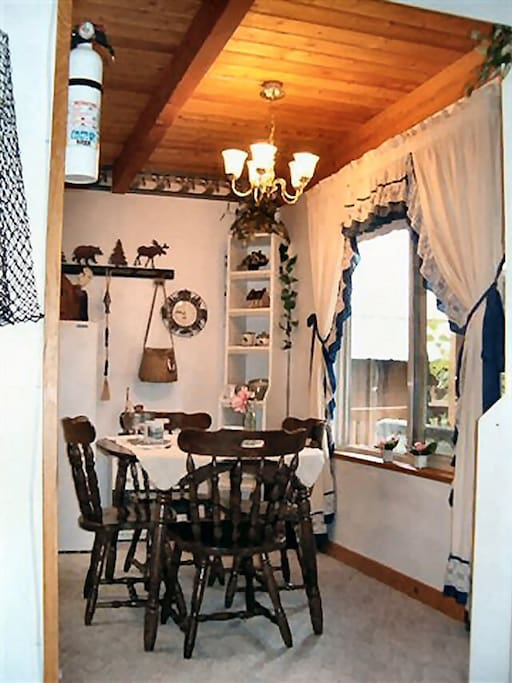 Fireweed Cabin kitchen table