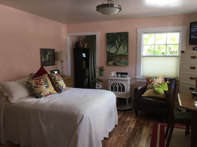 Comfortable, private studio in lovely neighborhood