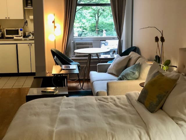 Upper Westside studio with park view