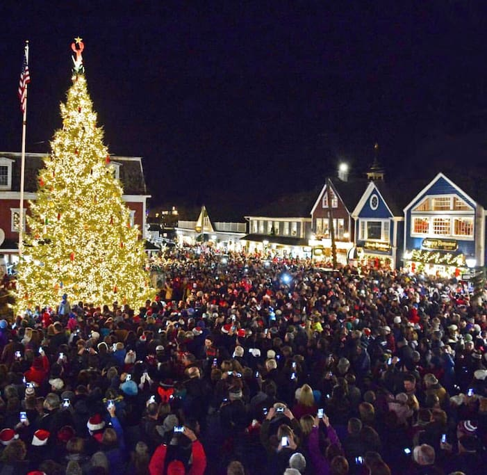 Friday night Christmas Tree lighting in Kennebunkport followed by Fireworks