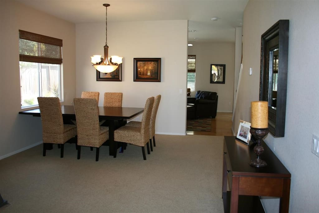 living room & formal dining area, spacious & neat