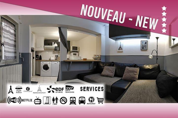 ☀ Studio**** 20m² tout confort proche de PARIS  ☀