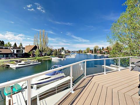 Lakeside Home with Dock & Custom Fireplace