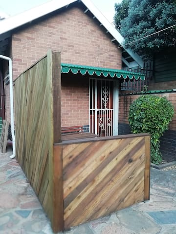 Private Entrance and seating area
