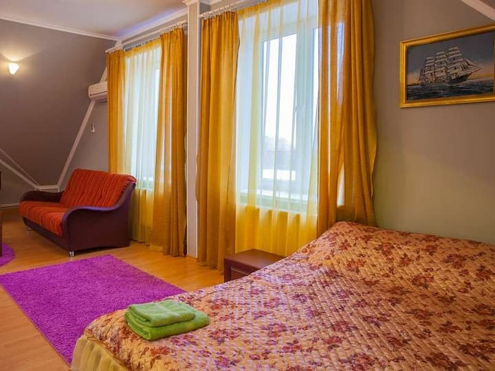 Family room with bathroom. Abuzerye  will be glad to meet guests in the bosom of the picturesque Belarusian nature.