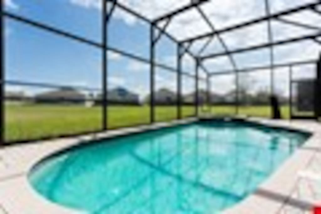 Come On In! - The screened and covered lanai at Luxury Retreat will be a relaxing oasis where you can swim, soak in the hot tub and enjoy your family.