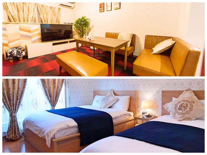 500M from Kyoto station!3LDK/Free WiFi&Parking!
