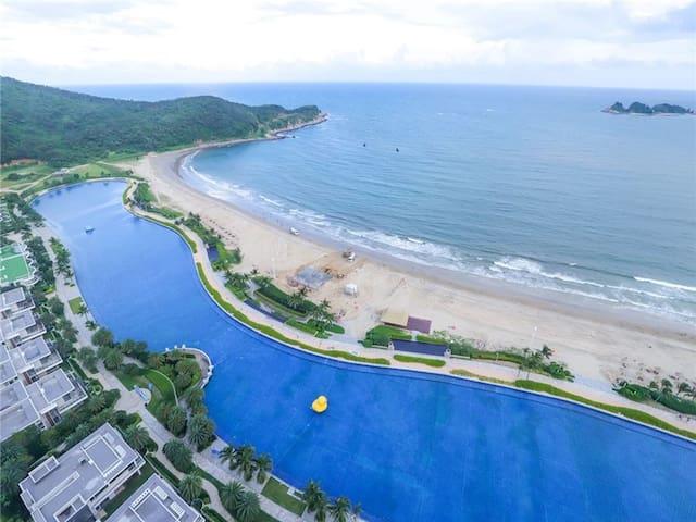 海陵岛高层豪华海景双床房(十里银滩敏捷黄金海岸)