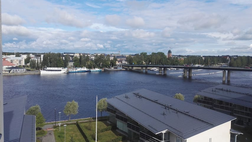 Joensuu home with fantastic view from 6th floor.