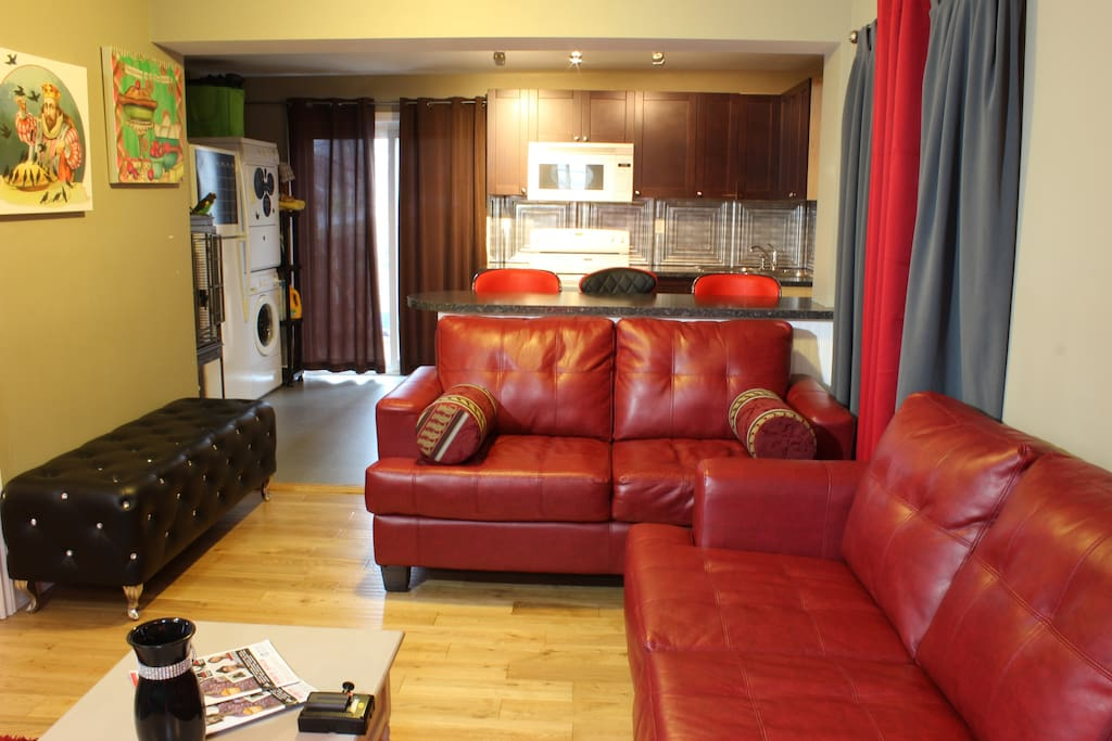 Lounge, open concept shared space.