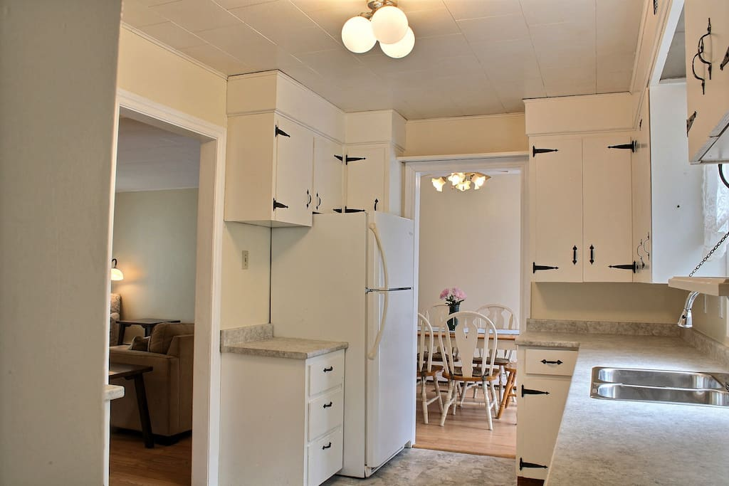 Cook up some memories in the fully furnished kitchen. The kitchen has a new convection stove, full size fridge, dishwasher and microwave.