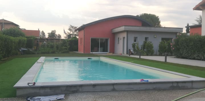 Maison d'architecte + piscine au pied du Vercors