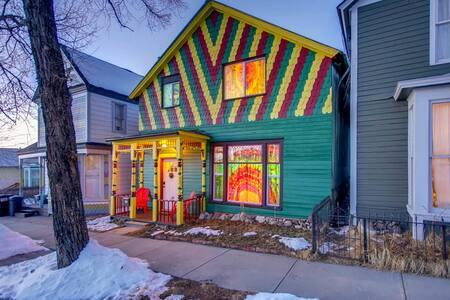The Happy Hippie Tie Dye House - The Purple Room