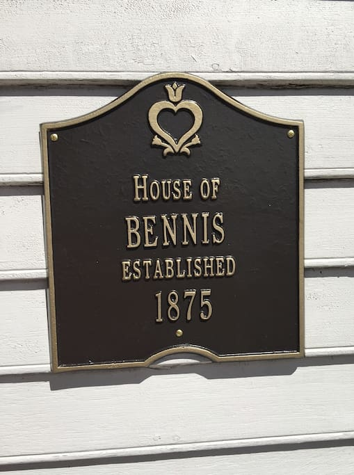 Capt. Spiro Bennis married Elizabeth Simpson and they had this house built in 1875.