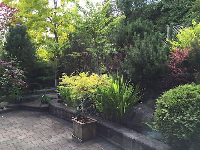 The backyard garden that you are free to enjoy