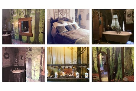Central Scarborough lovely woodland themed room - Scarborough - Dům pro hosty