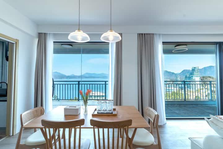 百寸投影360度湖山全景高层复式套房『共相美宿』