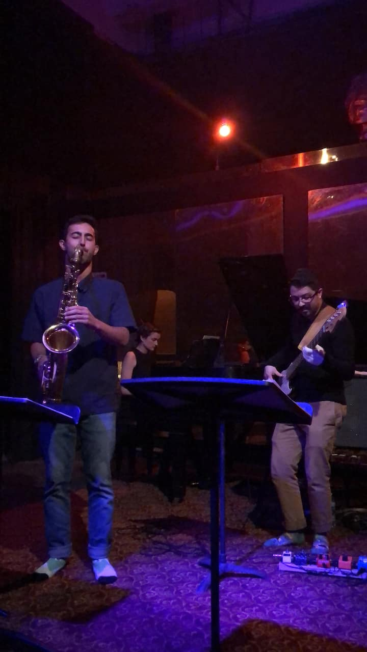Saxophonist and host Ari Silberman