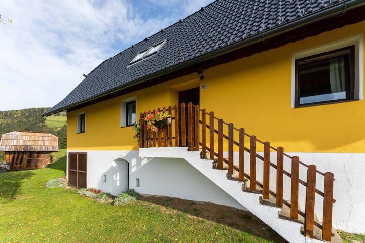 Charmantes Ferienhaus mit Garten beim Skigebiet in Eberstein