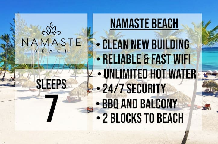★  SLEEPS 7 ★ NAMASTE BEACH ★ GREAT LOCATION  ★