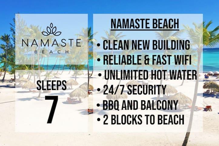 ★ NAMASTE BEACH ★  SLEEPS 7 ★ GREAT LOCATION  ★