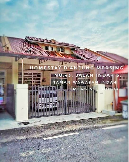 A new terrace house nearby town and Mersing jetty