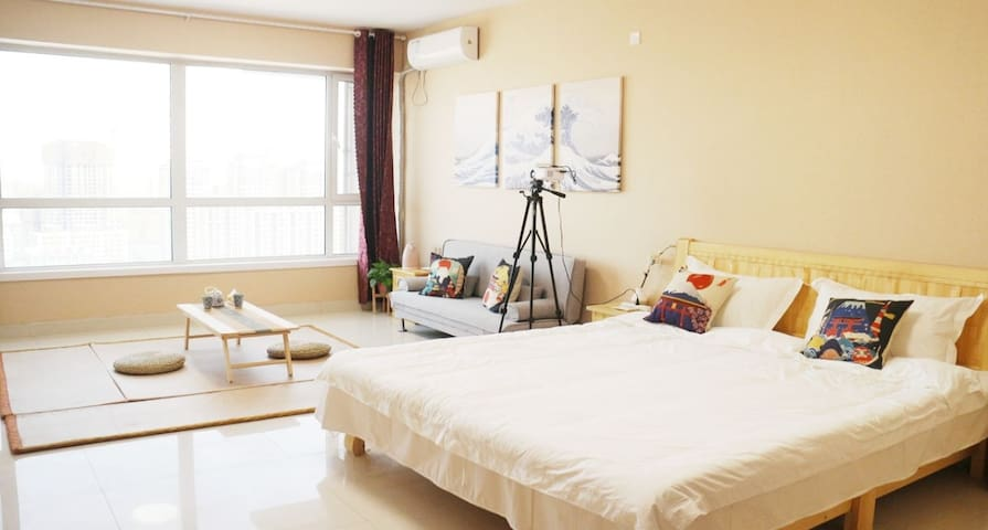 [風和民宿]日式风精装公寓创业大厦 高清投影独立卫浴 一客一换 近聊城大学东昌学院