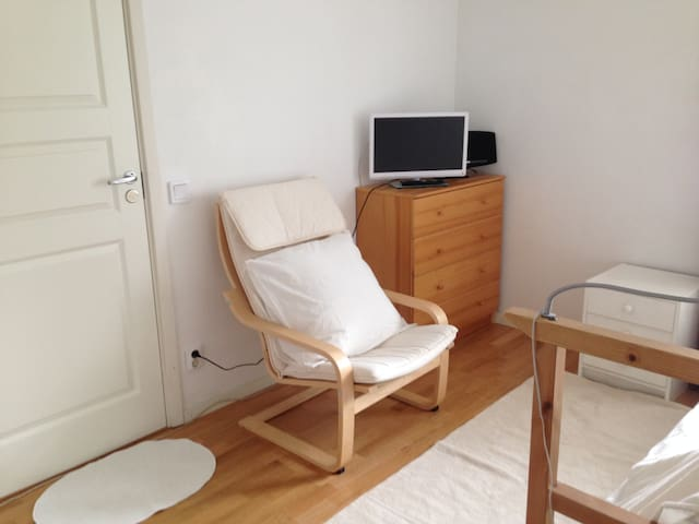 Sober white and wooden room