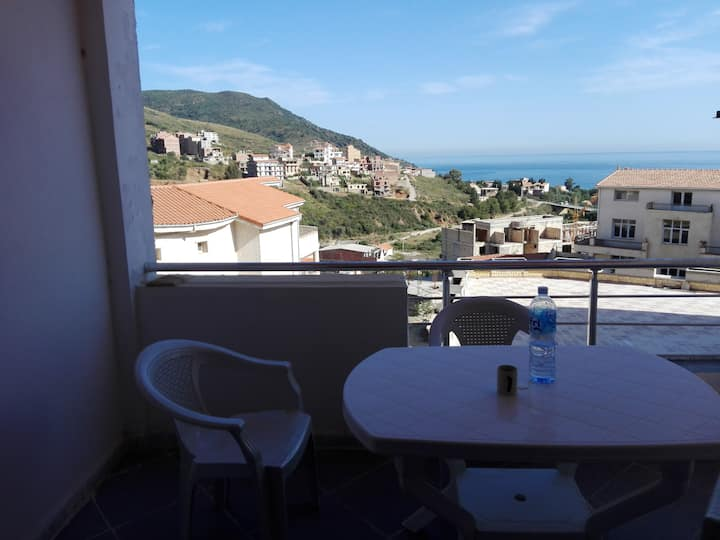 Appartement vue sur Mer Saket-->Bejaia