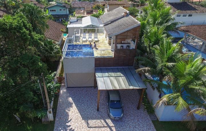 Ubatuba: Casa, Sol, Mar e Floresta, segurança 24h